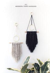 DIY Modern Yarn Hanging | Yarns, Modern wall and Modern