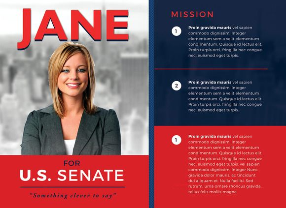 Political Flyer Template 3 by SeraphimChris on @creativework247 - campaign flyer template