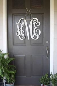 Front Door Monogram on Pinterest   Office Party ...