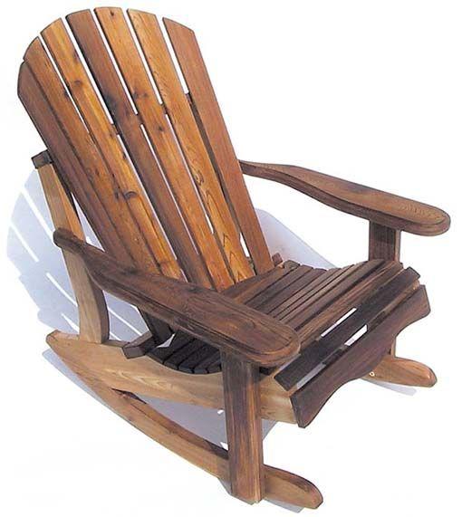 Eagles Nest Cedar Adirondack Rocker Porch Furniture