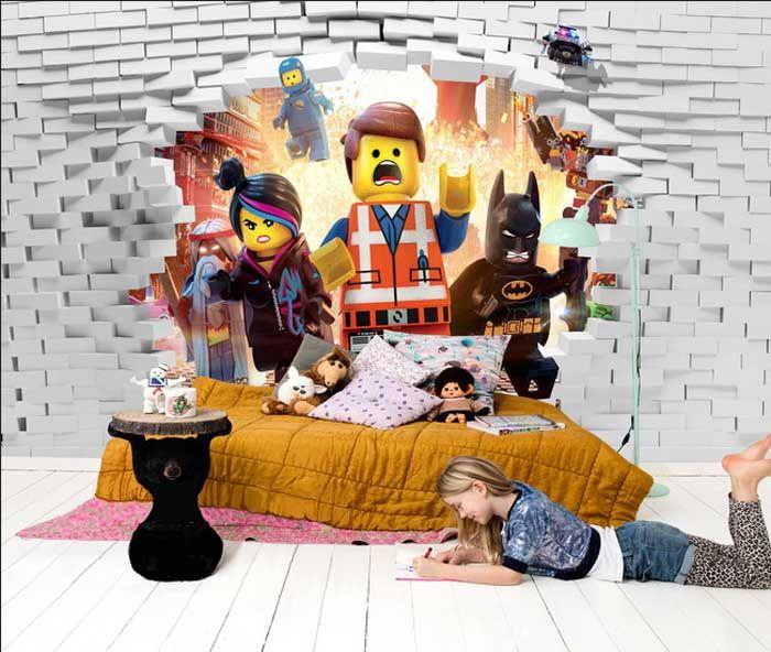 3d tapete für kinderzimmer mit Lego Heroes fototapeten für moderne - 3d tapete kinderzimmer nice ideas