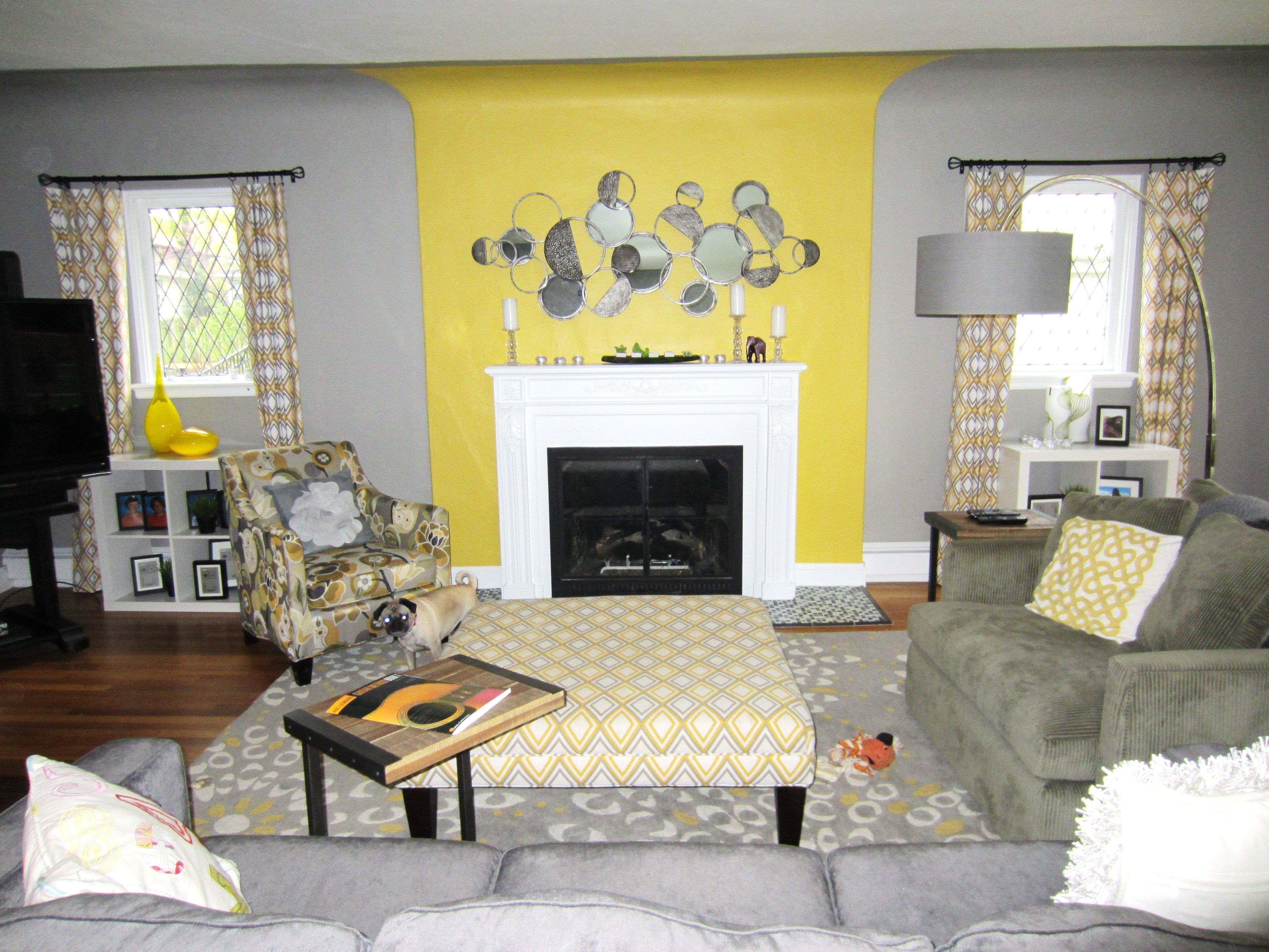 Yellow And Gray Living Room Yellow And Grey Living Room Beautiful Interior Design