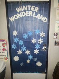 winter wonderland classroom theme for our door at the