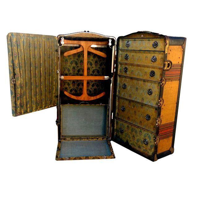 Antique Steamer Trunk Travel Antique Indestructo Travel