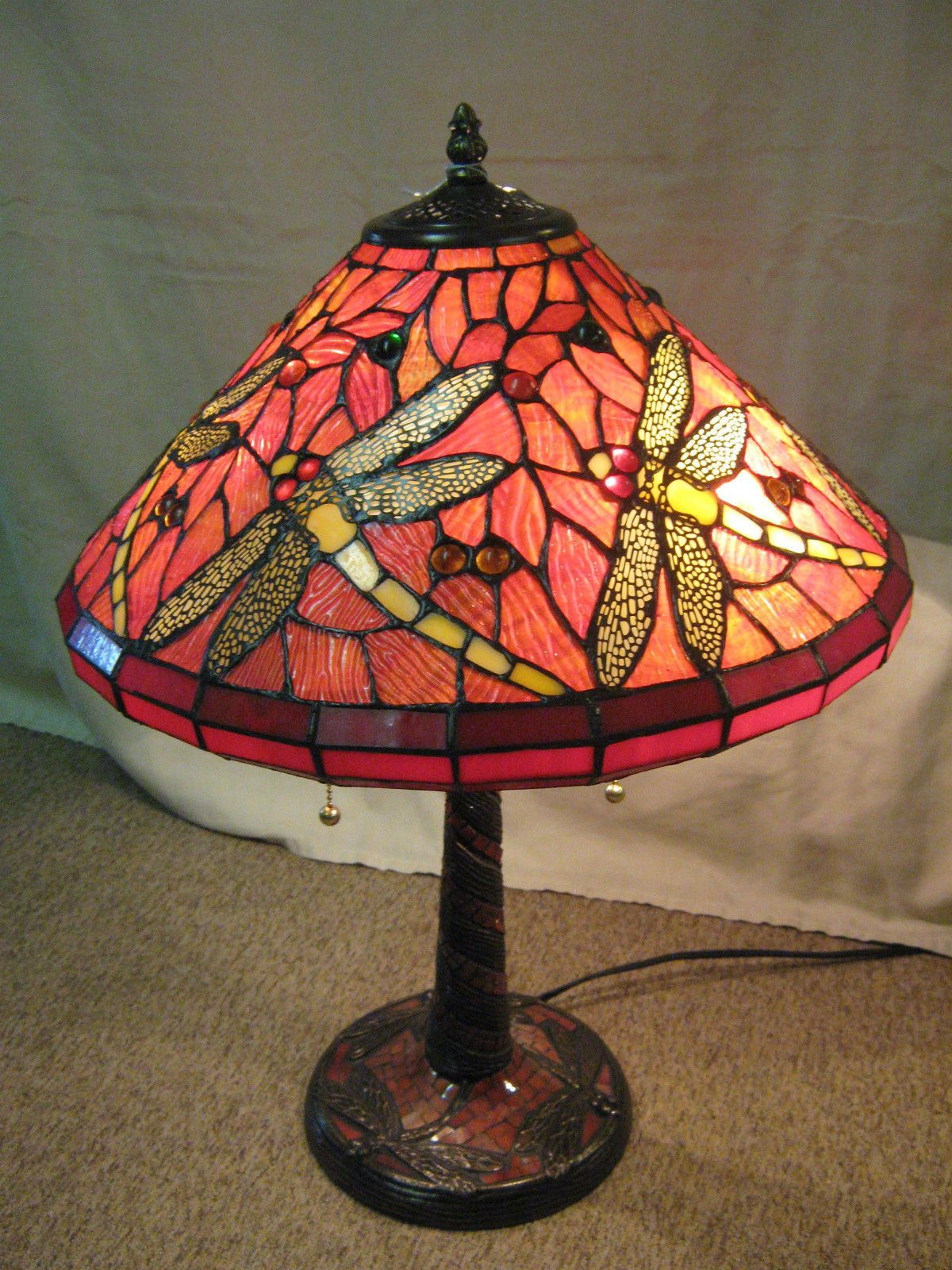 Lampara Tiffany Libelula Tiffany Style Stained Glass Dragonfly Lamp Libélulas Lámpara