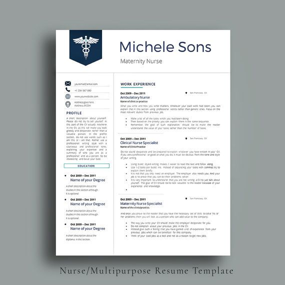 Professional Nurse Resume Template Designed for Medical - medical professional resume
