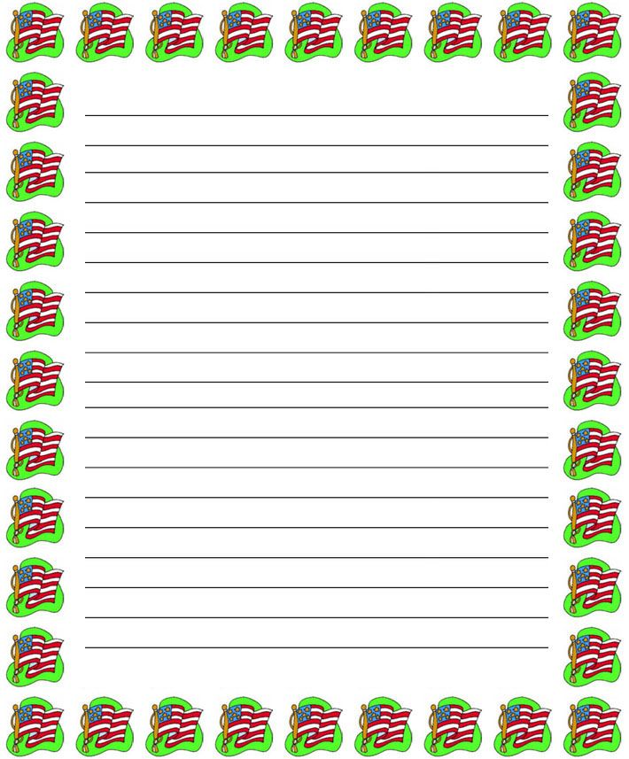 free 4th of july printables Regular lined patriotic 4th of - lined border paper