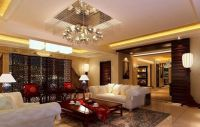 Appealing Modern Chinese Beige and White Living Room ...