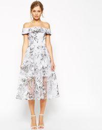 ASOS SALON Midi Dress in Floral Organza 85.00 | Wedding ...