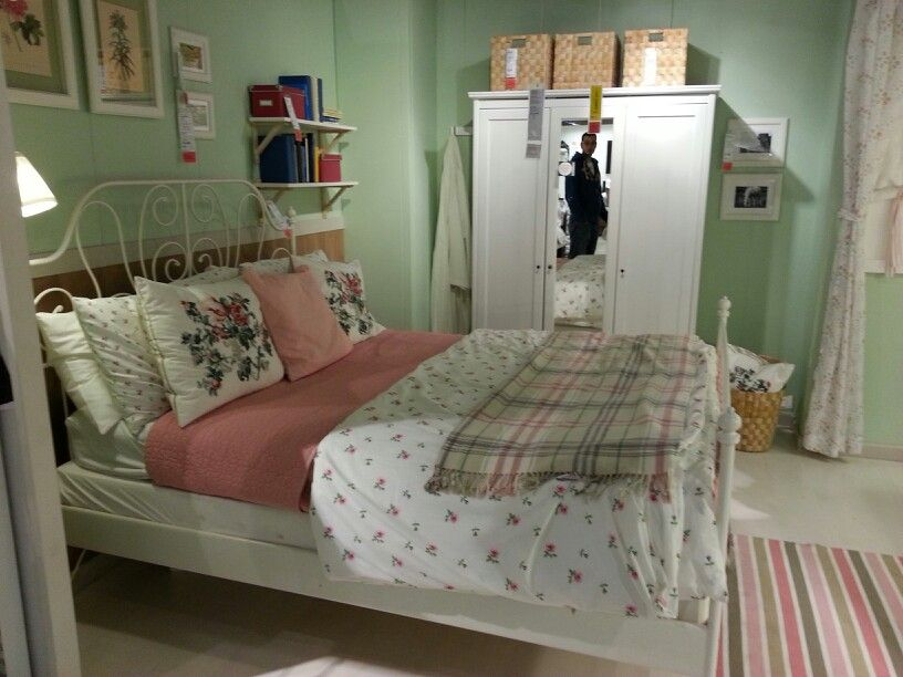 Gardinenschals Landhausstil Leirvik Bed Ikea | Inspiration | Pinterest | Bedrooms
