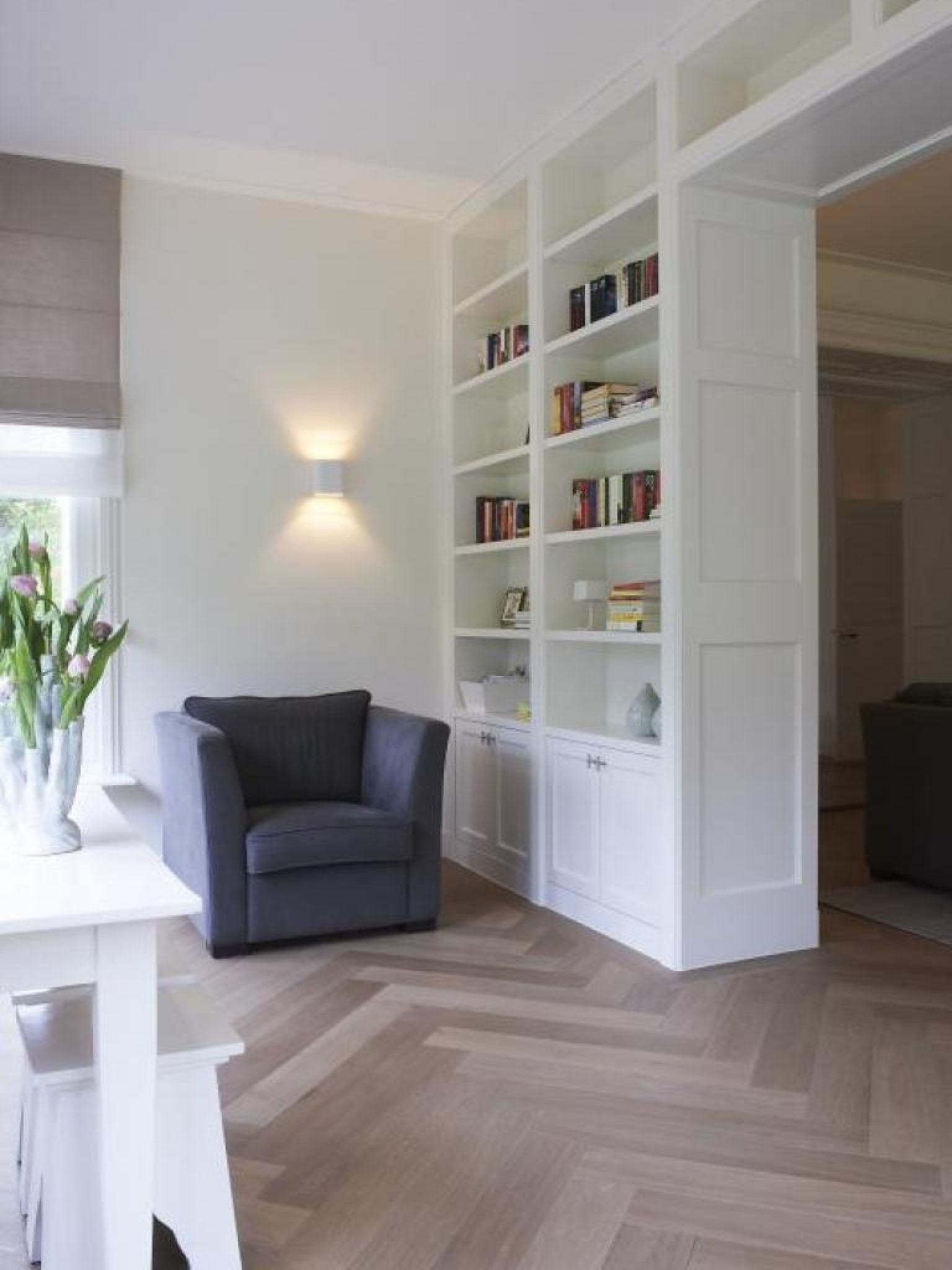 Witte Muren Woonkamer Living Room With Neutral Colors White Wall With Wooden