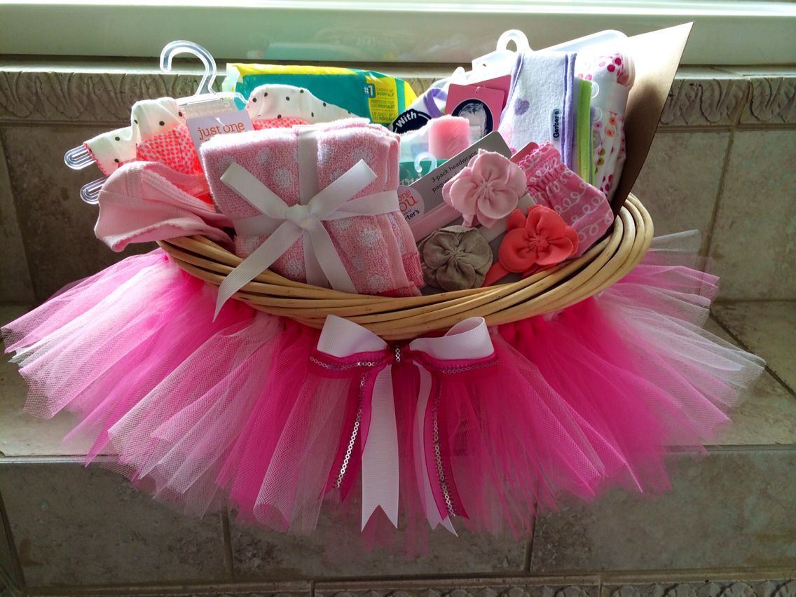 Baby Laundry Basket Gift Baby Shower Tutu Gift Basket Diy From My Craft Room