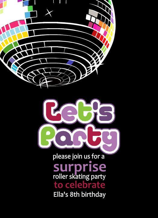 Free Printable Disco Party Invitations Templates Celebrations - free party invitations templates online