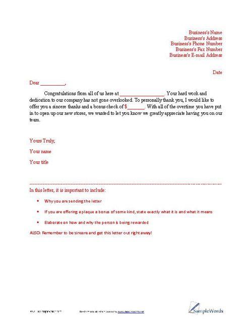 Letter of Appreciation Sample Business letter and Letter sample - debit note letter sample