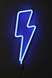 LED Blue Lightning Bolt Neon Wall Light   Trend: Neon ...
