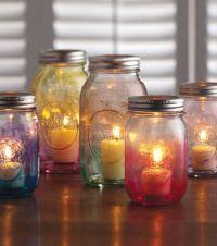 Mason Jar Crafts   Create a #DIY candle holder using ...