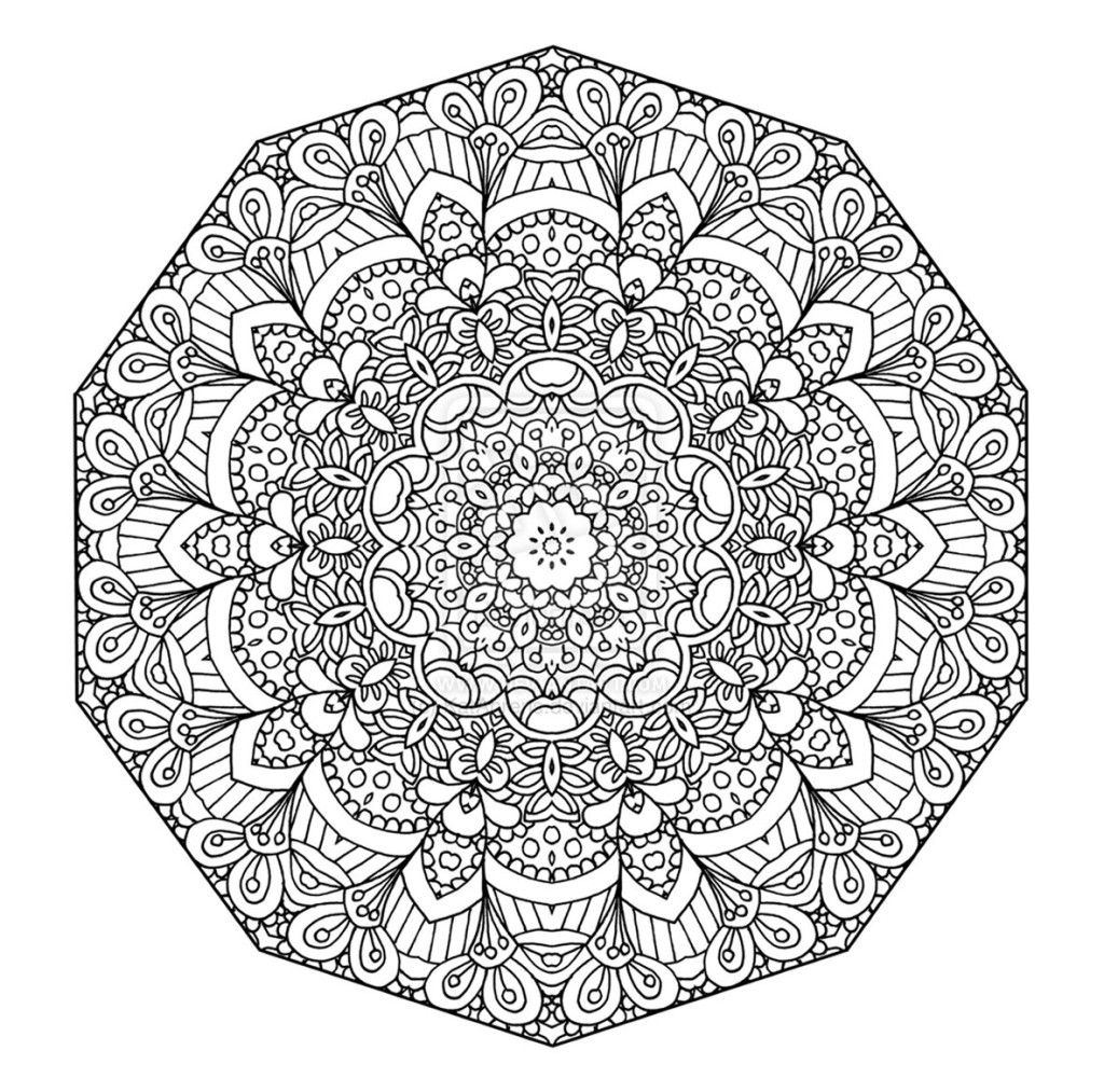 Free printable floral mandala coloring page the open mind com more