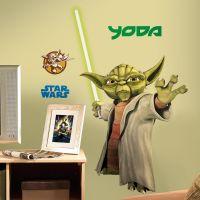 star wars bedroom | Star Wars Yoda Bedroom Wall Decal ...