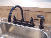 Black Bronze Kitchen Faucets With Stainless Steel Sink ...