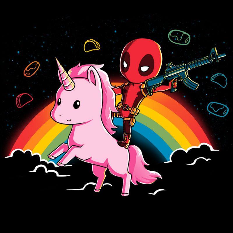 Cute Llamacorn Wallpaper Epic Deadpool T Shirt Official Marvel Tee Deadpool And