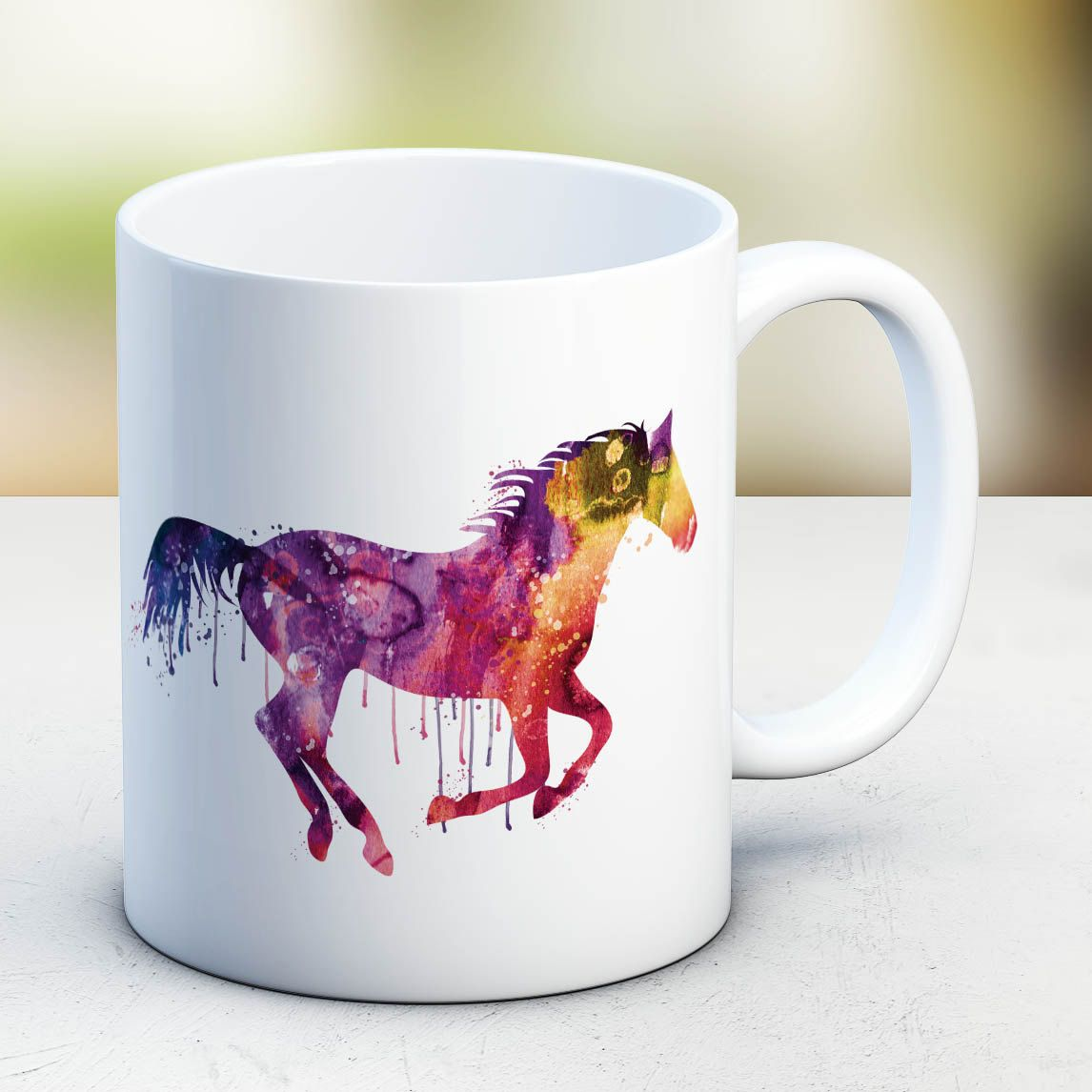 Animal Coffee Mug Horse Mug Watercolor Ceramic Mug Unique Gift Bird Coffee