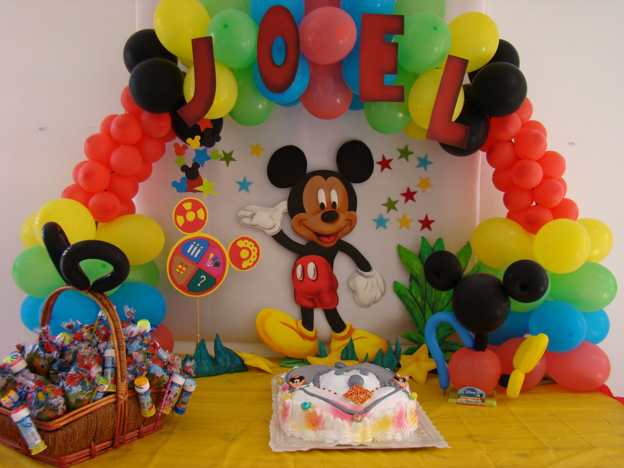 Decoraciones Infantiles De Mickey Decoración Temática Mickey Mouse Fiestisima Ideas