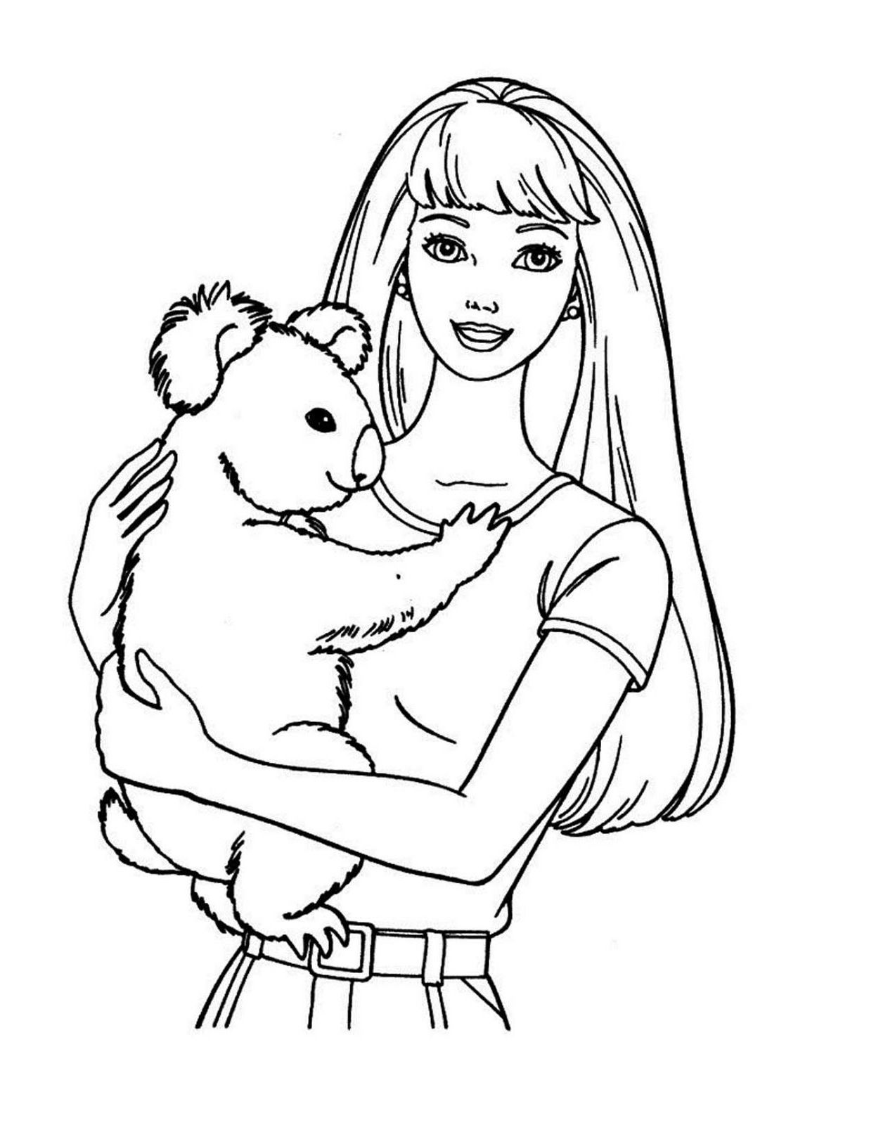 Barbie coloring pages printable sheet coloring pages to print