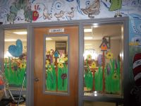 Spring window painting with students! | library ideas ...