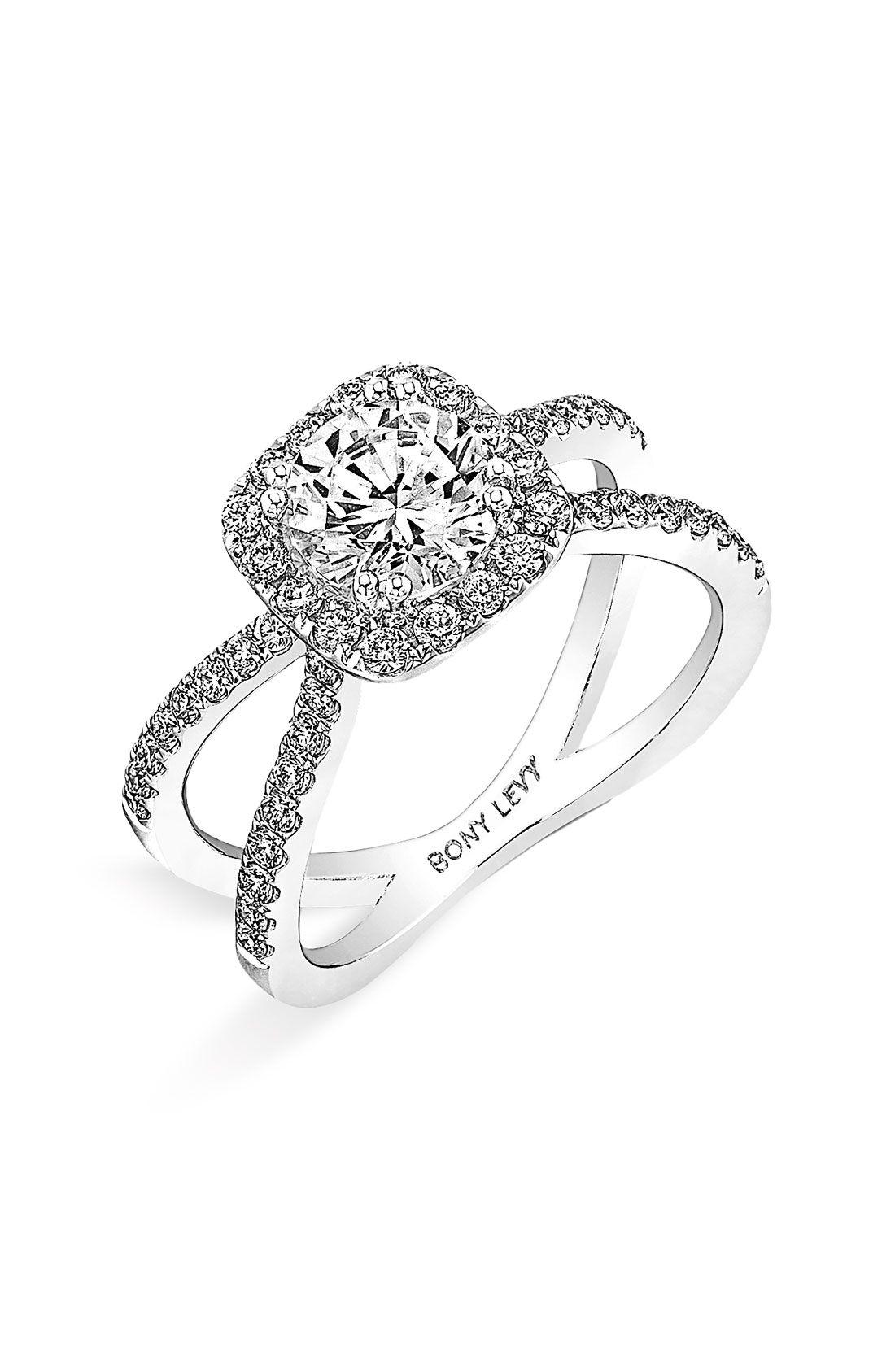david yurman wedding rings Women s Bony Levy Crisscross Pave Diamond Engagement Ring Setting Nordstrom Exclusive