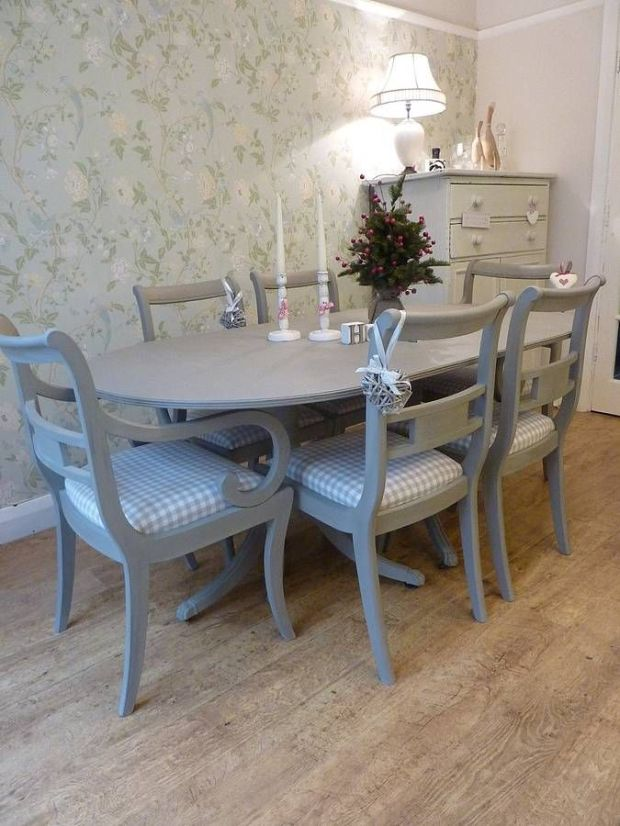 painted vintage dining table room