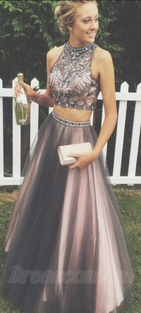 Two Pieces Prom Dresses,A-line Tull | Beautiful party ...