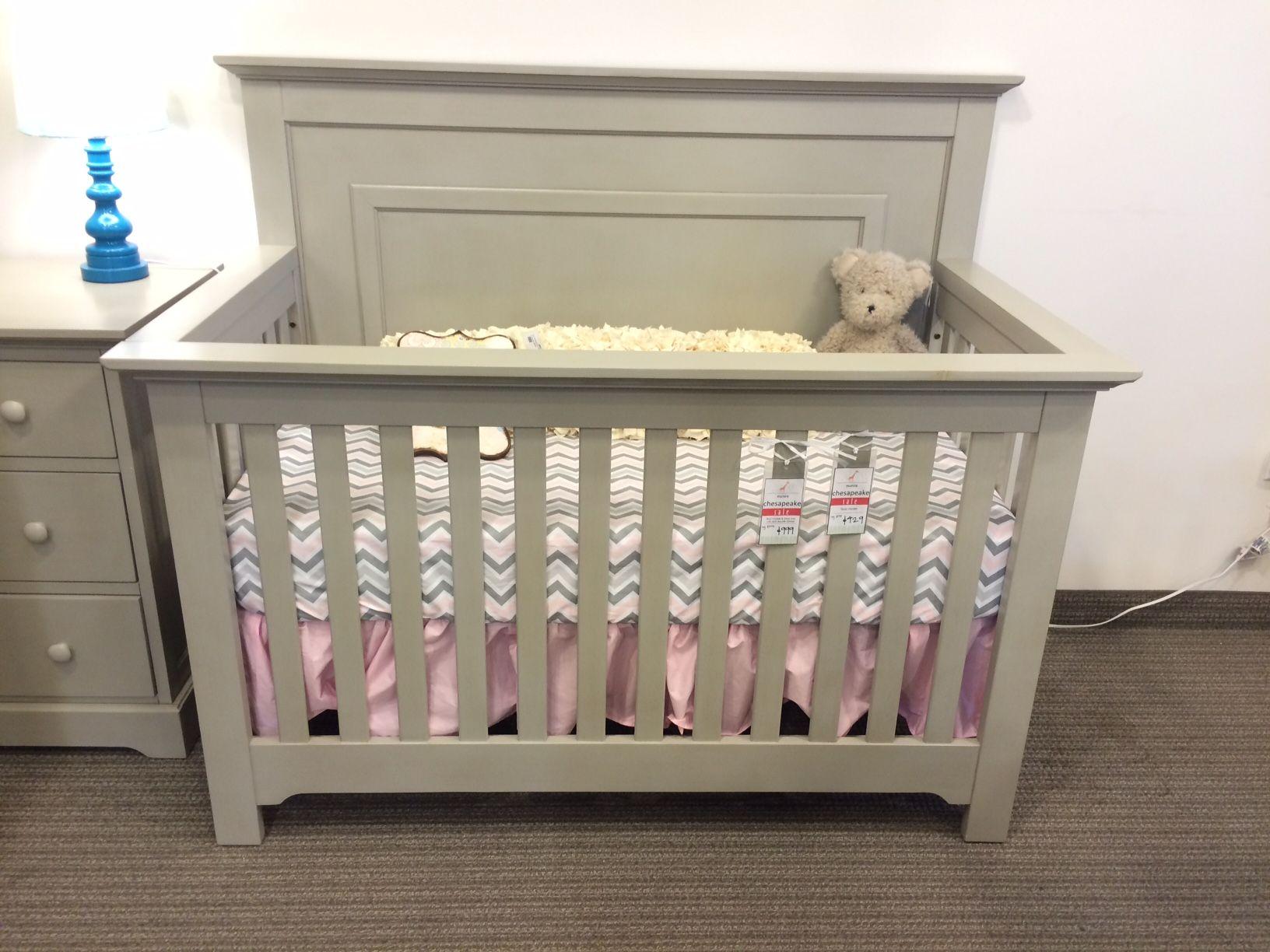 Munire chesapeake panel crib in light gray reg 579 sale 429
