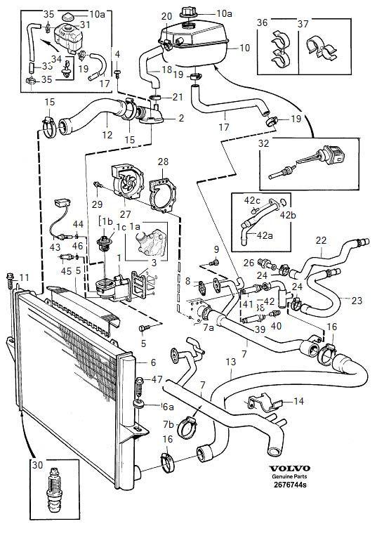 volvo 5 cylinder engine diagram