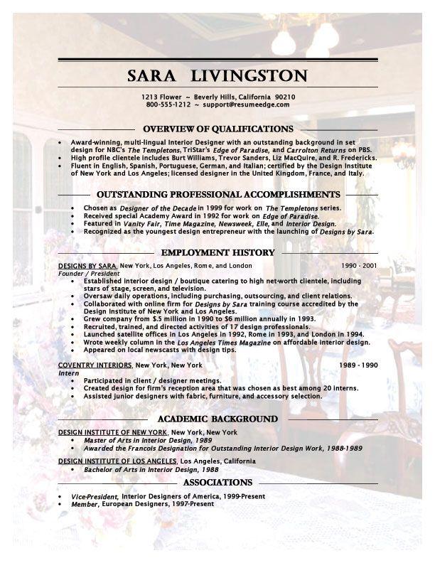 assistant interior design intern resume template Interior - examples of resumes for internships