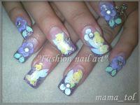 tinkerbell nails art   Tinkerbell nail designs   CHRISTMAS ...
