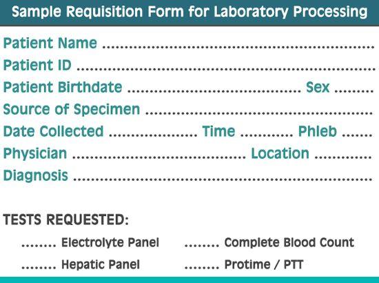 A sample Requisition Form Stick it Pinterest Phlebotomy - sample requisition form