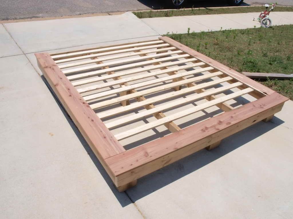 Diy Platform Bed Base How To How To Make A Platform Bed Base How To Build A