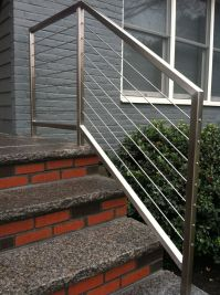 Stainless Steel Cable Stair Rails | Outdoor Handrails ...