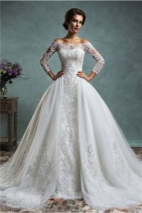 Unique Mermaid Vintage Lace Long Sleeve Wedding Dress With ...