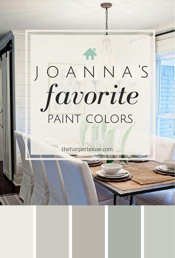 Joannau0027s five favorite Fixer Upper paint colors - Alablaster - mindful gray living room
