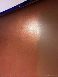 A Shimmery Metallic Copper Wall with Modern Masters ...