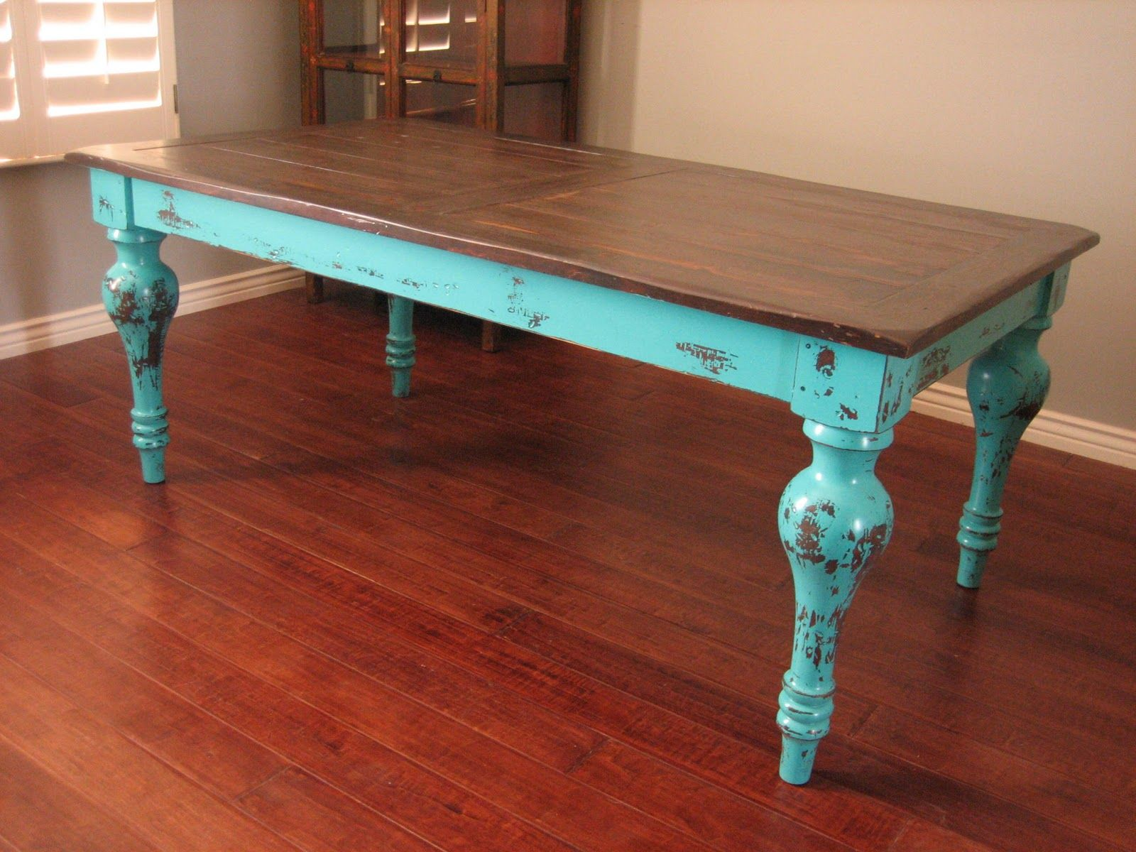 Rustic Beach Coffee Table Really Liking The Teal Distressed Look It Looks As If