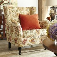 Claudio Wing Chair - Jacobean Ochre   Pier 1 Imports ...