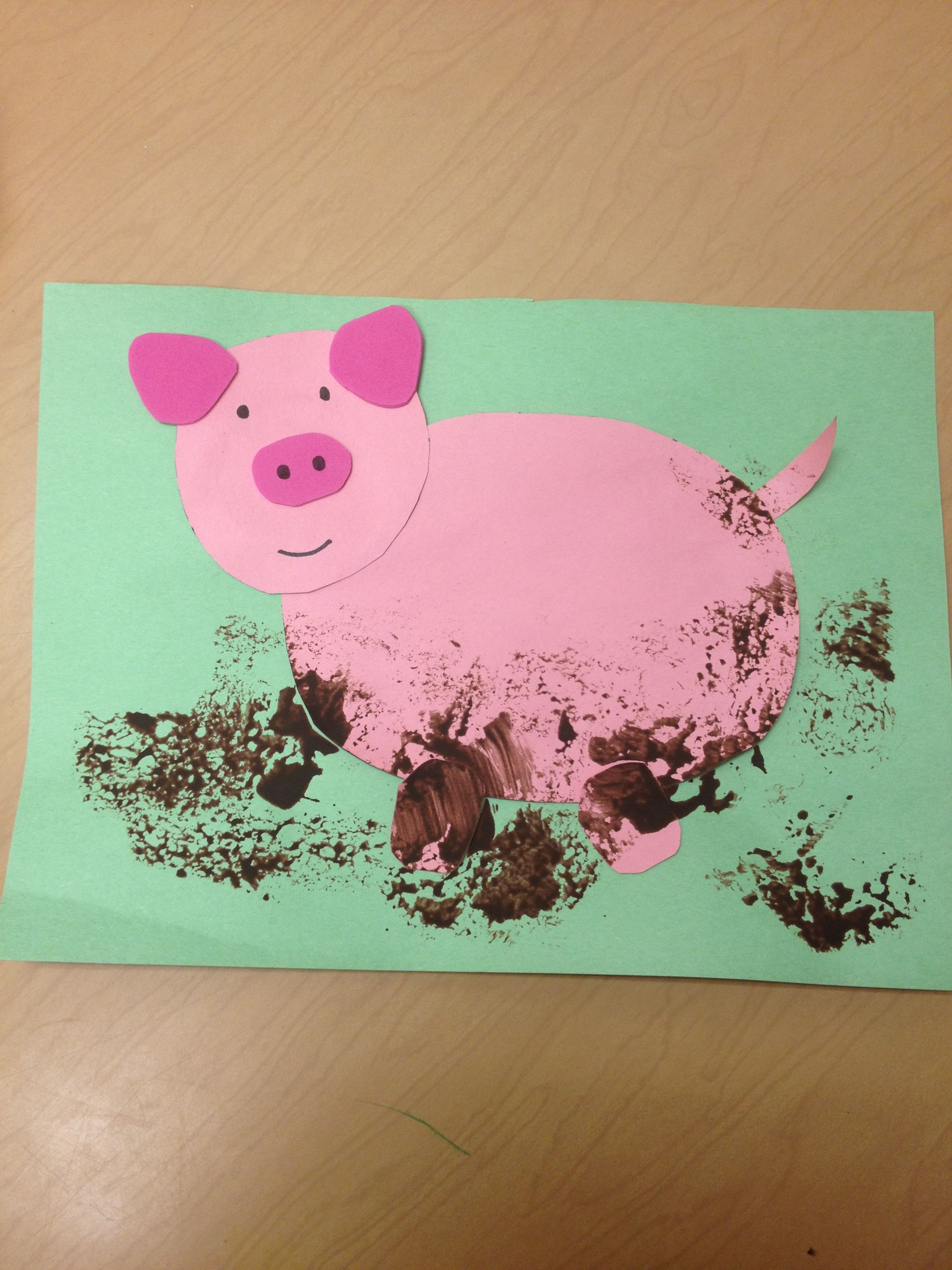Pre k arts and crafts -  Arts And Crafts Pre K Muddy Pig Craft Download