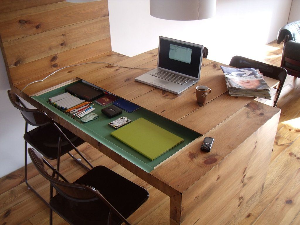kitchen tables with storage Dining table cum workstation