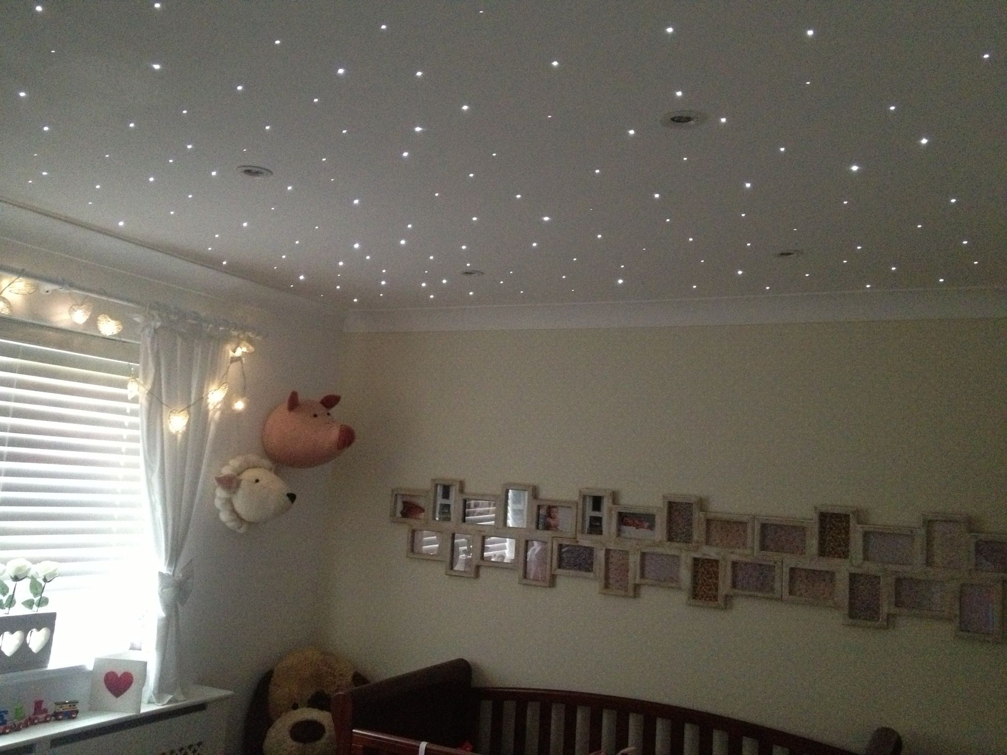 Ceiling Light For Baby Boy Room Nursery Fibre Optic Star Twinkle Lights Remote Control