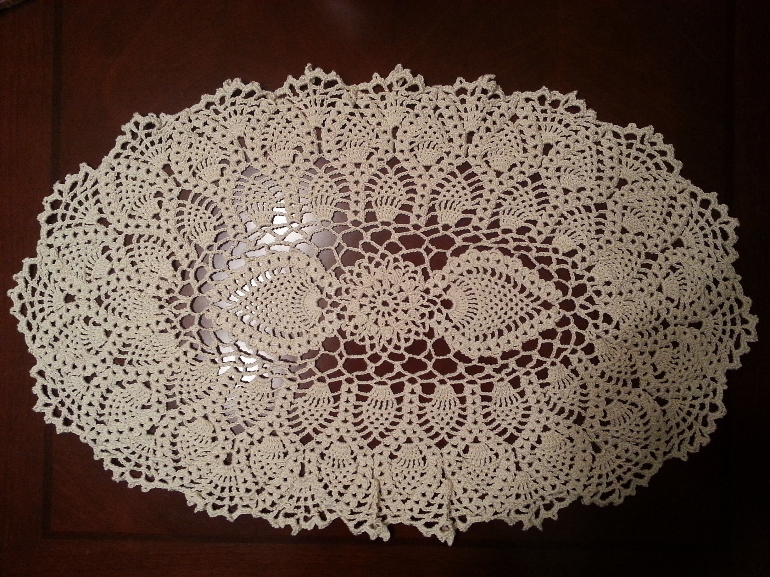 Tisch Decken Video Oval Pineapple Doily Part 2 Youtube Crochet Doily 39s