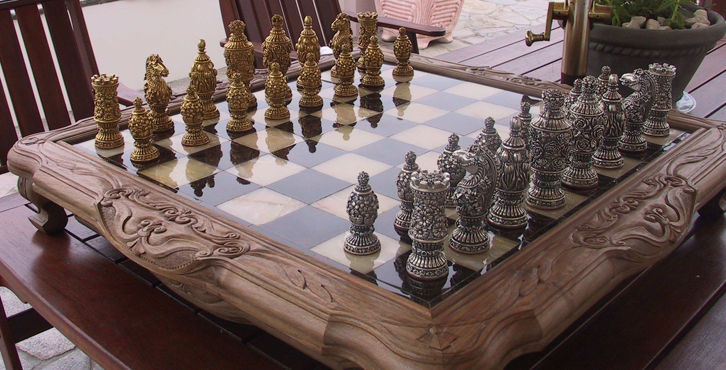 Unique Chess Sets Furniture Cool Unique Luxury Art Work Chess Set And