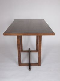 Narrow Dining Table: for a small dining room, pedestal ...