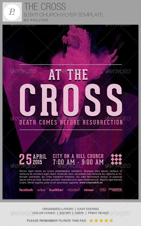 The Cross Church Flyer Template - $600 The Cross Church Flyer - contemporary flyer